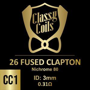 CC-1 - Classy Coils - 26 Fused Clapton