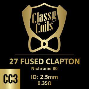 CC-3 - Classy Coils - 27 Fused Clapton