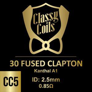 CC-5 - Classy Coils - 30 Fused Clapton