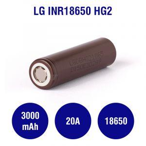 LG INR18650-HG2 3000mAh - 20A