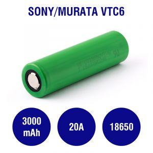 Sony / Murata US18650VTC6 3000mAh - 20A
