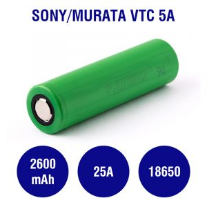 Sony/Murata US18650VTC5A 2600mAh - 25A