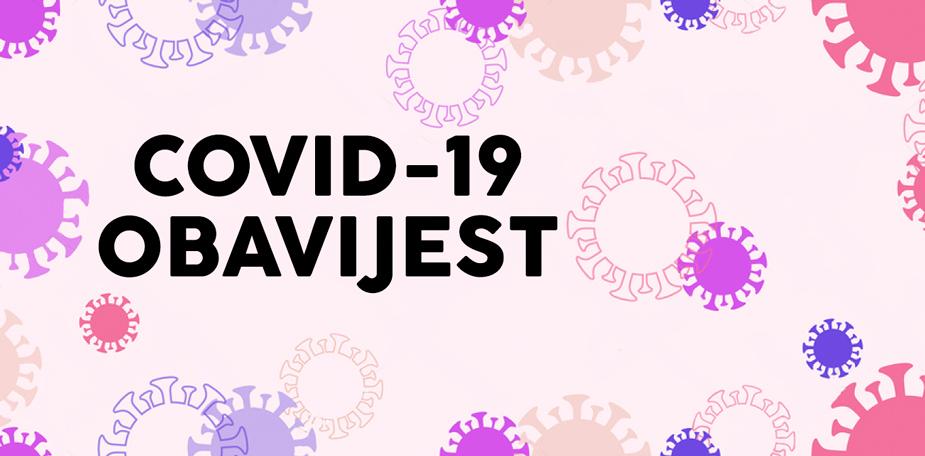 COVID-19 - Corona virus obavijest
